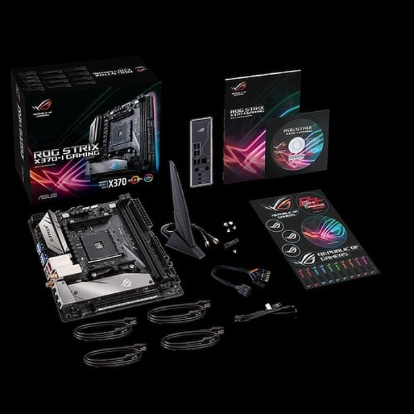 ASUS ROG STRIX X370-I GAMING Socket AM4 AMD X370 DDR4 Mini ITX Motherboard (90MB0VE0-M0EAY0)