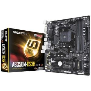 Gigabyte GA-AB350M-DS3H Socket AM4 AMD X370 DDR4 Micro ATX Motherboard (GA-AB350M-DS3H)