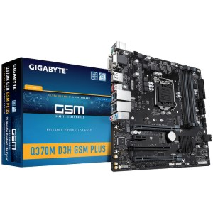 Gigabyte Q370M D3H GSM Plus LGA 1151 Intel Q370 DDR4 Micro ATX Motherboard (Q370M D3H GSM PLUS)