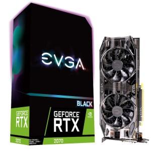 EVGA GeForce RTX 2070 Black 8GB GDDR6 Graphics Card (08G-P4-1071-KR)