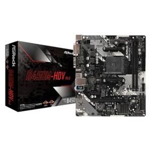 ASRock B450M-HDV R4.0 Socket AM4 AMD B450 DDR4 Micro ATX Motherboard (B450M-HDV R4.0)