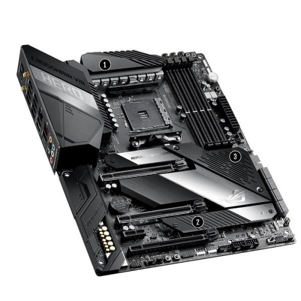 ASUS ROG Crosshair VIII Hero Socket AM4 AMD X570 DDR4 ATX Motherboard (ROG Crosshair VIII Hero)