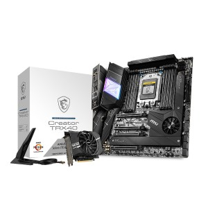 MSI Creator TRX40 sTRX4 AMD TRX40 DDR4 Extended ATX Motherboard (CREATOR TRX40)