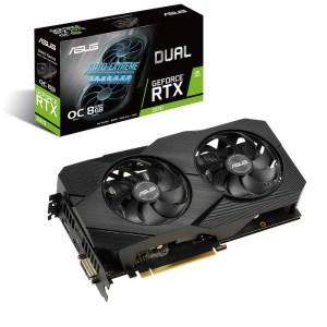 ASUS GeForce RTX 2070 DUAL EVO OC V2 8 GB GDDR6 Graphics Card (90YV0E50-M0NA00)