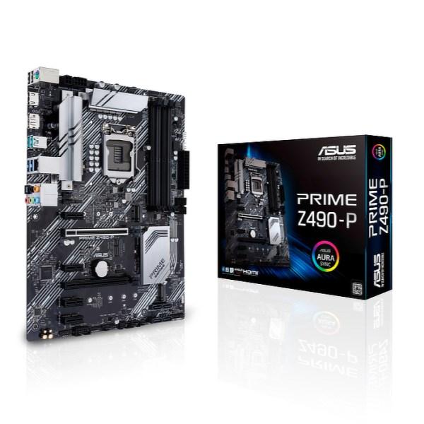 ASUS PRIME Z490-P LGA 1200 Intel Z490 DDR4 ATX Motherboard (90MB12V0-M0EAY0)