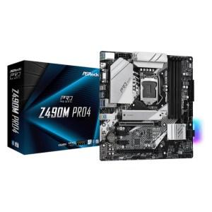 ASRock Z490M Pro4 LGA 1200 Intel Z490 DDR4 Micro ATX Motherboard (Z490M PRO4)