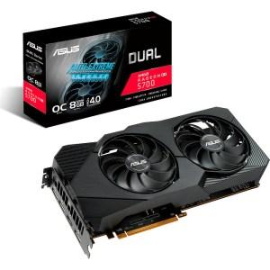 ASUS Radeon RX 5700 XT DUAL EVO OC 8 GB GDDR6 Graphics Card (DUAL-RX5700XT-O8G-EVO)