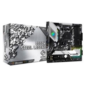ASRock B550M Steel Legend Socket AM4 AMD B550 DDR4 Micro ATX Motherboard (B550M STEEL LEGEND)