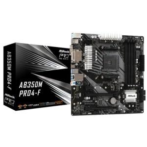ASRock AB350M PRO4-F Socket AM4 AMD DDR4 Micro ATX Motherboard (AB350M PRO4-F)
