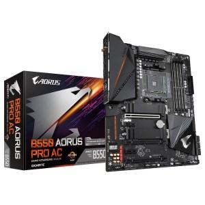 Gigabyte B550 AORUS Pro AC Socket AM4 AMD DDR4 ATX Motherboard (B550 AORUS PRO AC)