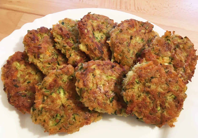 Zucchini Puffer vegan