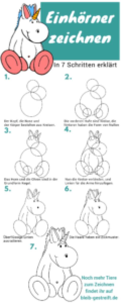 Einhorn zeichnen lernen