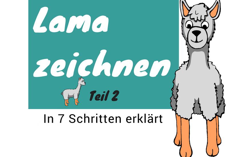 Anleitung zum Lama zeichnen