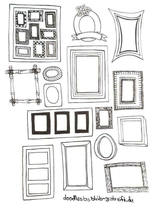 Doodles Bilderrahmen. Doodles frame