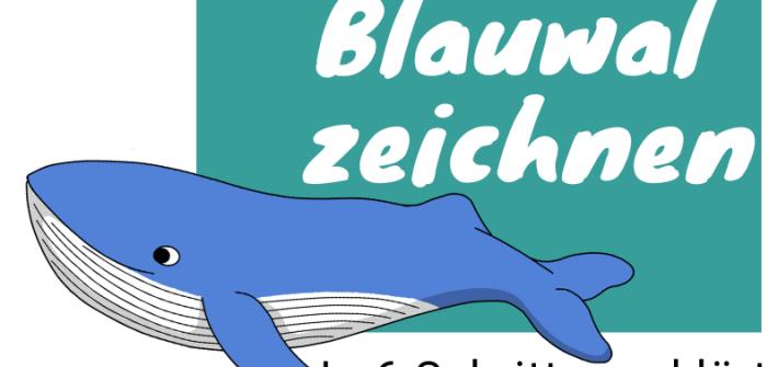 Anleitung zum Wale zeichnen: Blauwal zeichnen