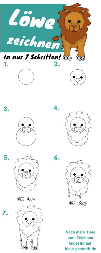 Loewe zeichnen lernen