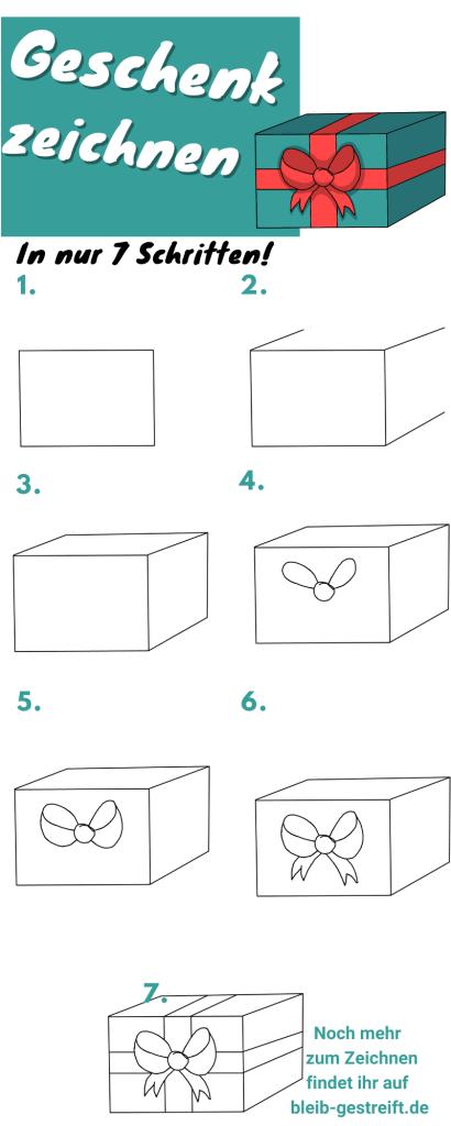 Geschenk zeichnen lernen