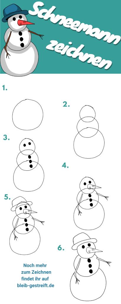 Schneemann zeichnen lernen