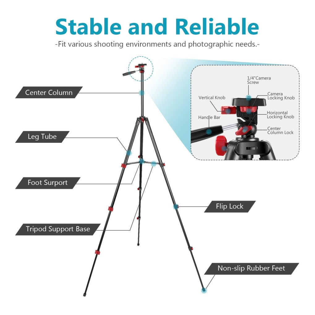Premium Lightweight Multi-Purpose Tripod Kit with Remote