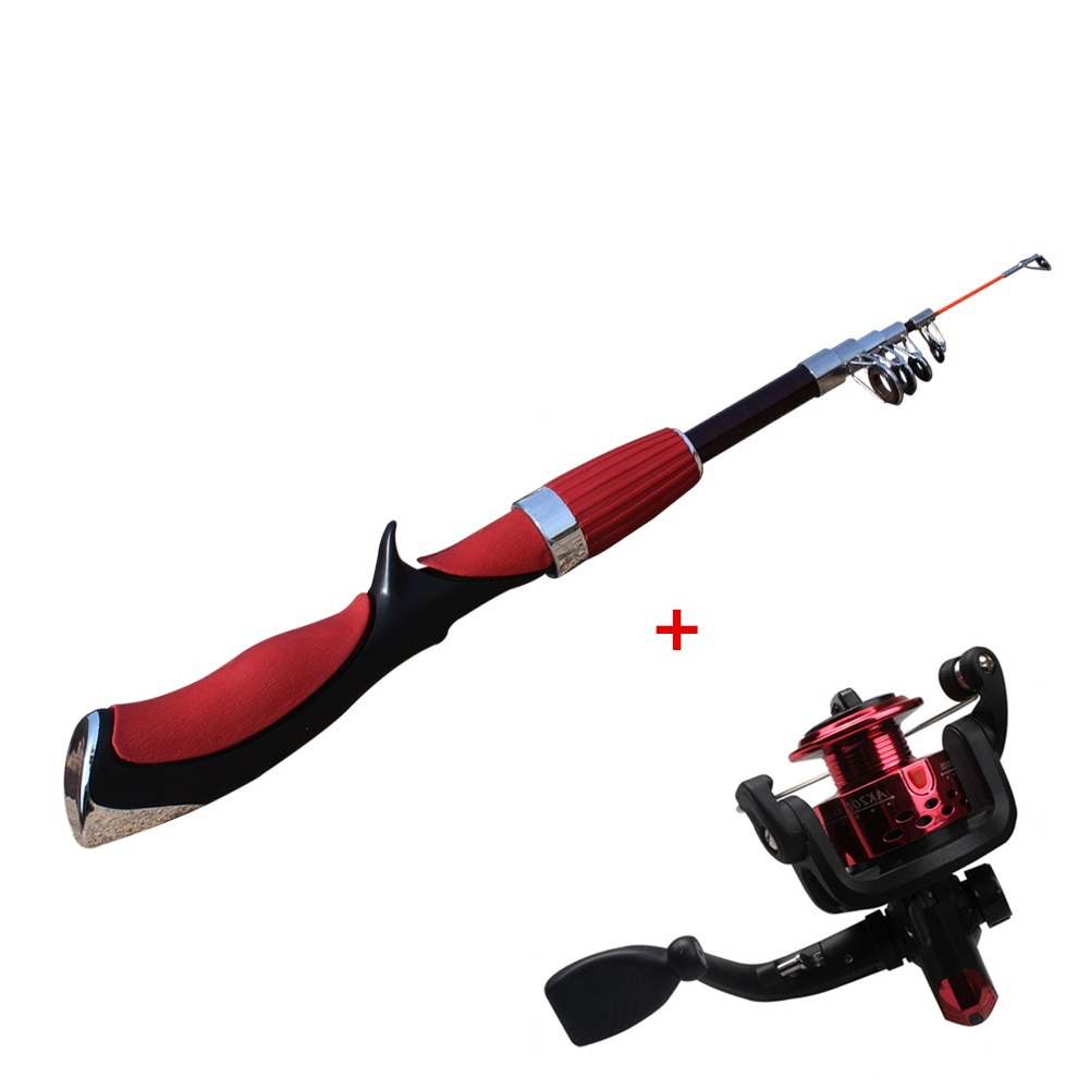 NEW 2021 Fishing Rod and Reel Set Casting Fishing Rods Carbon Ultra Light Rod with Mini Spinning Reels Fishing Tackle Set