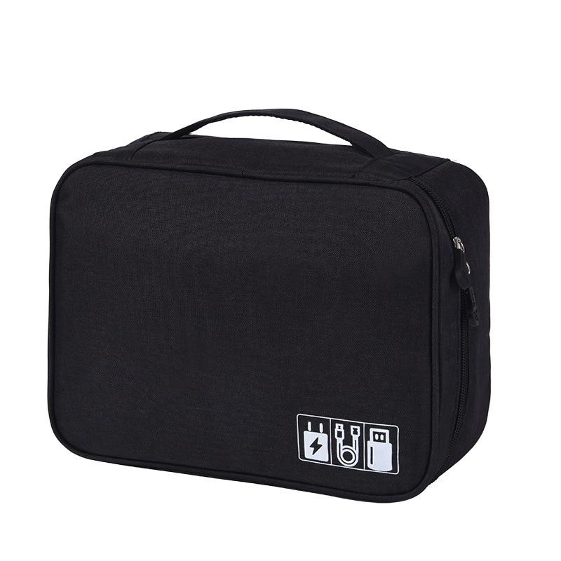 Waterproof Tech Travel Organizer Bag Blackl