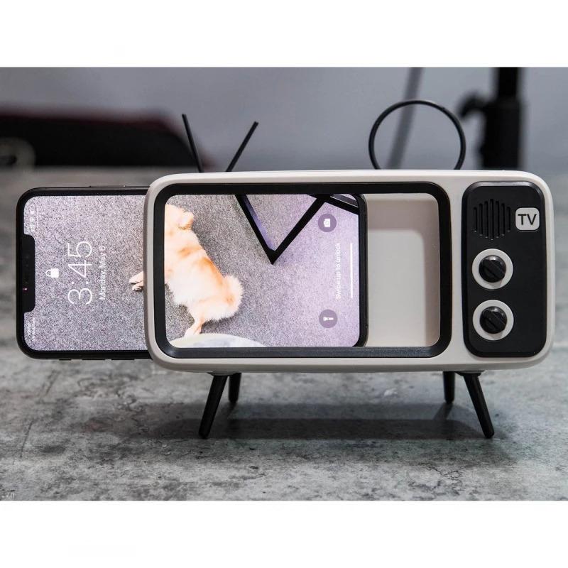 Retro Mini Wireless Speaker and Phone Holder3