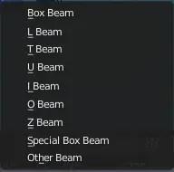 Profiles of the Beam Builder addon