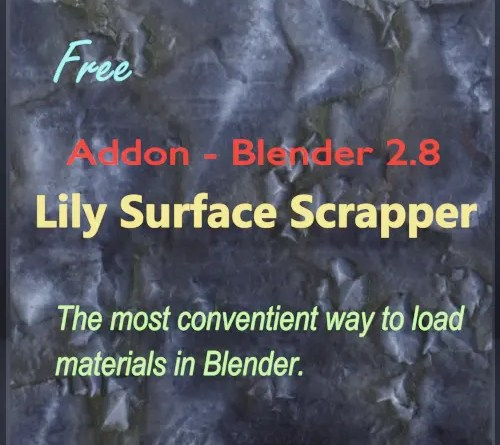 Lily Surface Scrapper Addon - Blender 2.8