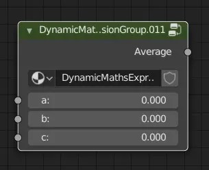 Dynamic Maths Expresssion Node Group