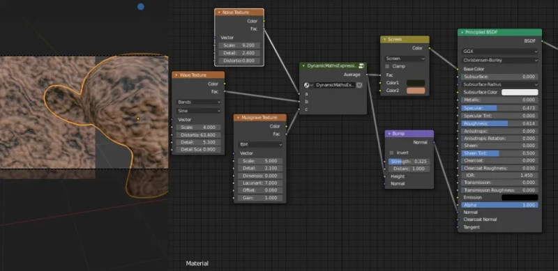 Example Dynamic Expression Node in shader.