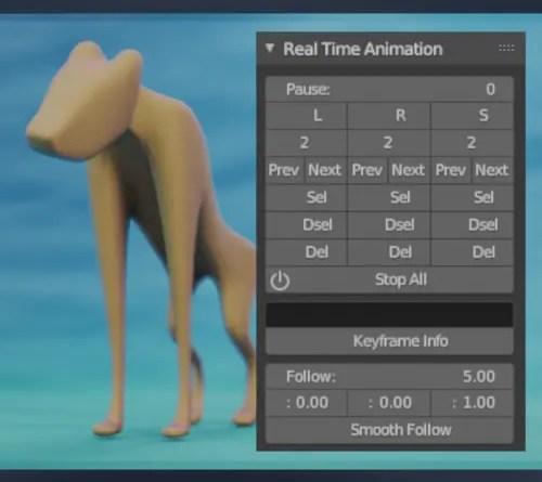Real Time Animation Addon - Blender 2.8