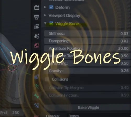 Wiggle Bones Addon for Blender 2.8x