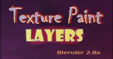 Texture Paint Layers Addon - Blender 2.8