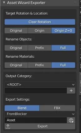 Asset Wizard Exporter UI