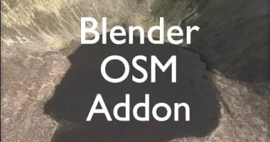 Blender-OSM addon for Blender