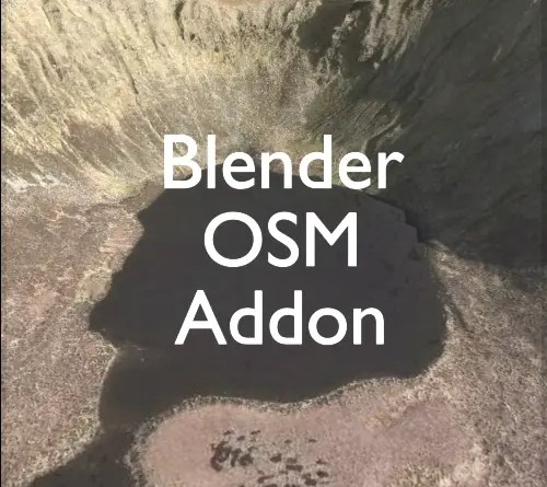Blender-OSM addon for Blender
