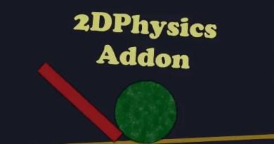 2DPhysics Addon for Blender