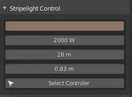 Stripe-Light controls in the EEVEE Production Suite