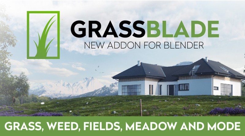 GrassBlade Addon for Blender - Review