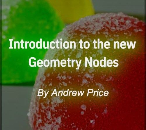 Cover Introduction to Geometry Nodes #1