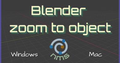 Blender Zoom to object - Cover