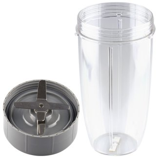 Extractor Blade + 32 oz Colossal Cup Replacement Parts Compatible with NutriBullet 600W 900W Blenders NB-101B NB-101S NB-201