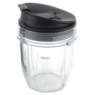 12 oz Cup with Sip & Seal Lid Replacement Parts Compatible with Nutri Ninja Auto-iQ 426KKU450 408KKU641