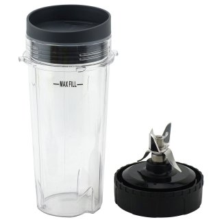 16 oz Cup with Lid and Extractor Blade for Nutri Ninja BL770 BL771 BL772 BL773CO BL780 BL810 BL820 BL830 Parts 303KKU 305KKU 322KKU770