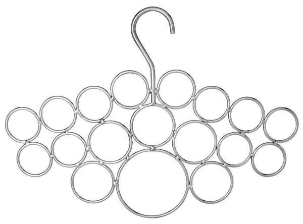 18 Loop Scarf Hanger Chrome
