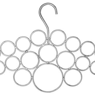 18 Loop Scarf Hanger Chrome