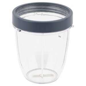 18 oz Short Cup Includes Lip Ring Replacement Parts Compatible with NutriBullet 600W 900W Blenders NB-101B NB-101S NB-201