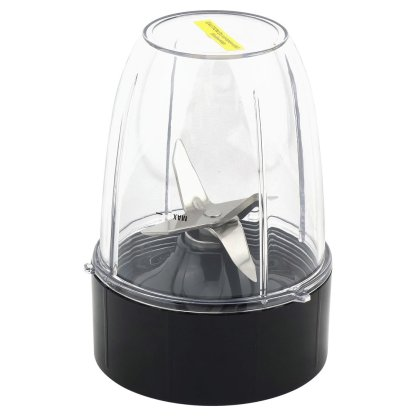 2 Pack 18 oz Short Cup with Flip To Go Lid + Extractor Blade for NutriBullet Lean NB-203 1200W Blender