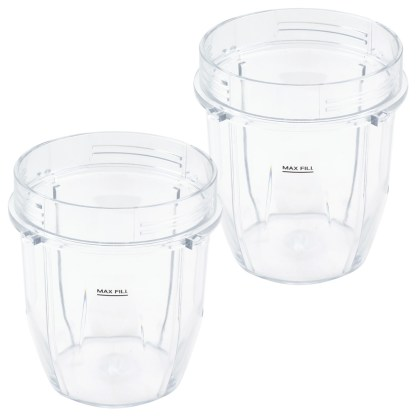 2 Pack 12 oz Cup Replacement Parts Compatible with Nutri Ninja Auto-iQ Blenders 426KKU450