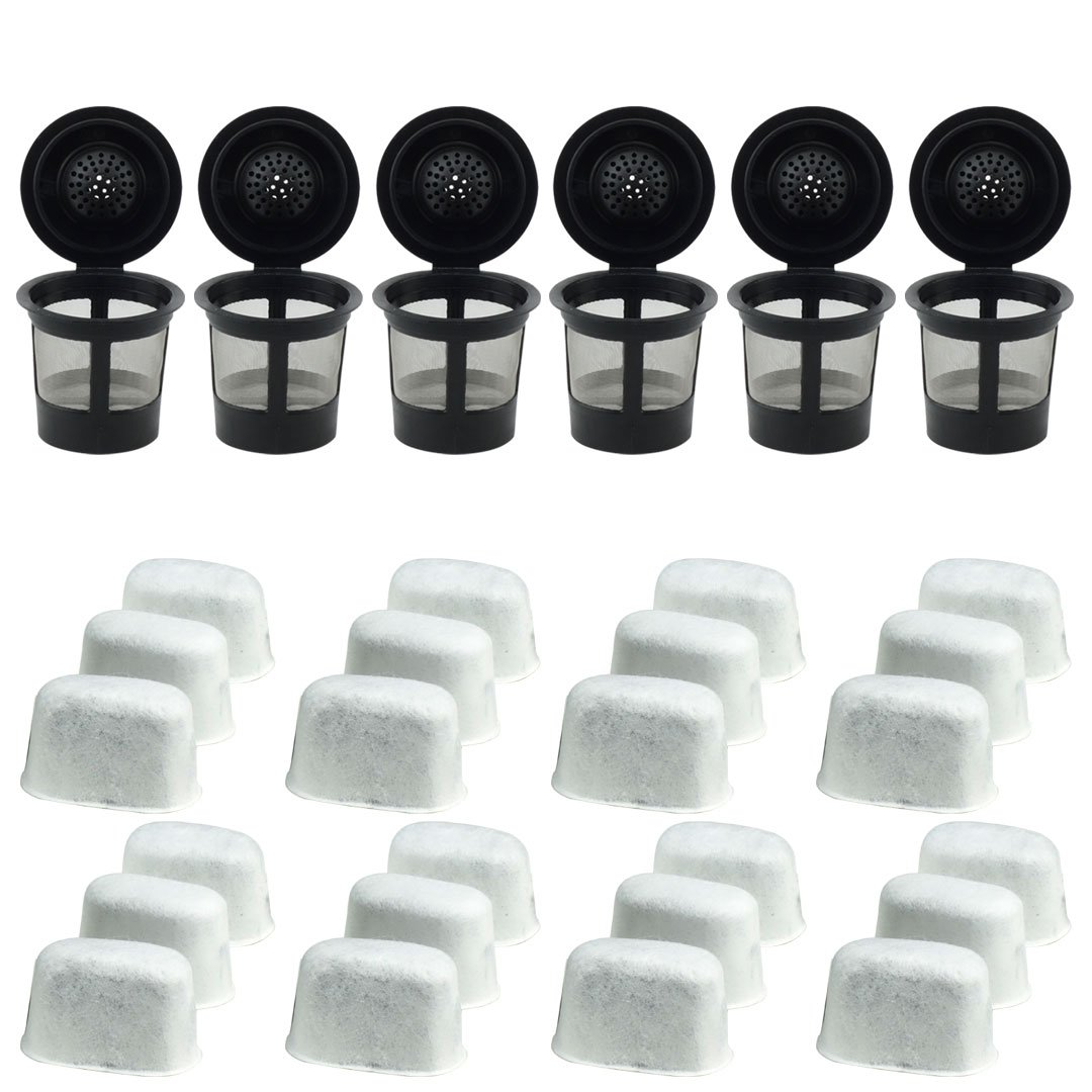 6 Keurig Reusable Single K Cup Solo Coffee Filter Pods And
